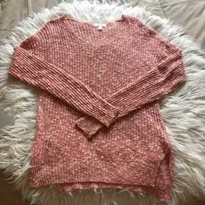 Sun and Shadow Coral Knit Sweater